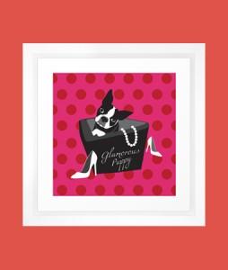 Art-Framed Art Print-Glamorous Puppy